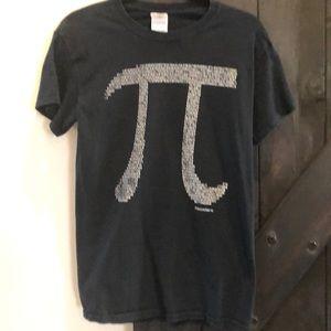 Pi Black Short Sleeve Tee Shirt Size Small